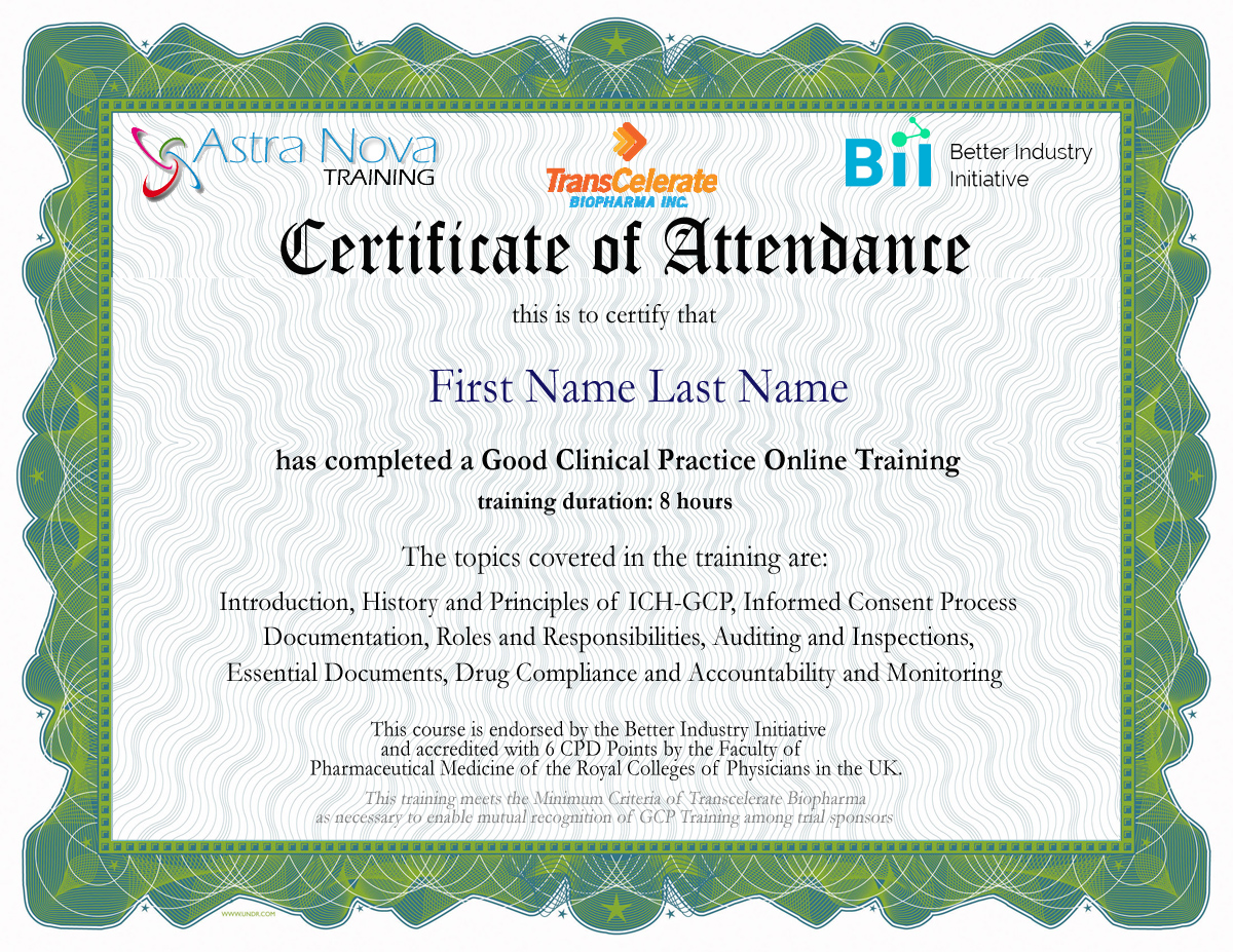 Good Clinical Practice Gcp Training International Edition